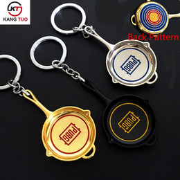 hot girls model NZ - Game Playerunknown's Battlegrounds PUBG Model New Style Pan Keychains Of Hot Game Metal Keyring Key Chain Cosplay Souvenir llaveros Gifts
