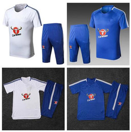 2018 HAZARD WILLIAN camiseta de fútbol de manga corta Azul # 7 KANTE Uniformes de fútbol Maillot de foot camisetas de fútbol juego corto