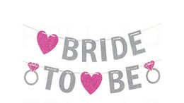 $enCountryForm.capitalKeyWord UK - Hot Bride To Be Banner Silver Glitter Garland Wedding Bridal Shower Bachelorette Party Hen Party Girl's Night Banner Photo Props