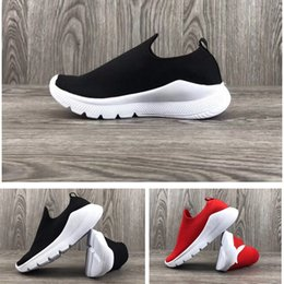 f6a9ecd4ea05 Summber Slip On Kids running sock shoes Knitted Infant   Children Sports  shoes black red toddler trainers boy   girl Slip on sneakers