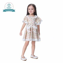 pattern for girls princess dress Australia - Flofallzique Baby Girls Dress Casual Cotton Princess Dress Floral Pattern Toddlers Kids Dresses for girls clothes