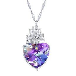 $enCountryForm.capitalKeyWord UK - Sterling Silver Necklace, European and American, uses SWAROVSKI crystal heart pendant.
