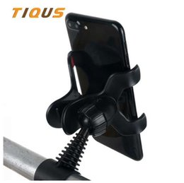 Wholesale New Universal Bike Bicycle Phone Holder Degree Handlebar Clip Stand Mount For iPhone Plus Samsung Mobile Smart Cell Phone