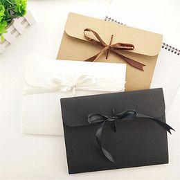 $enCountryForm.capitalKeyWord NZ - 24*18*0.7cm Ribbon Kraft Paper Envelope Bag Handkerchief Silk Scarf Packing Boxes Envelope Gift Box