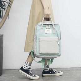 Ladies Punk Handbag NZ - Free Shipping M 2017 New Arrival Fashion Women Punk Backpack School Bag Unisex Handbag Student Bag Men Travel Lady The Laptop Bags 5133