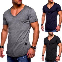 man t shirt underwear cotton 2019 - Summer T Shirt Solid Cotton High Quality Slim Casual New White And Black Tracksuit Underwear T-Shirt Men discount man t
