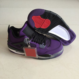 $enCountryForm.capitalKeyWord Canada - Cheap Travis x 4 Houston Oilers in Purple Basketball Shoes for Men 4s grey black Cactus Jack mens designer sport sneaker with box