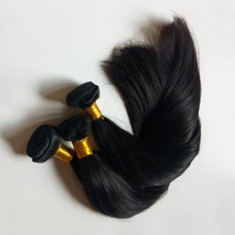 thick virgin remy hair extensions Canada - High-end market popular Straight Hair extensions Brazilian virgin Hair weft good ratio full and thick healthy end High-end hair