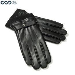 $enCountryForm.capitalKeyWord NZ - Men Sheepskin Gloves Touchscreen Texting Winter Genuine Leather Fashion 2018 Luxury Wrist Adult Male Winter Driving Black Gloves