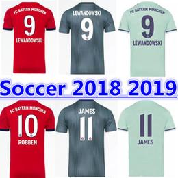 18 19 Bundesliga Bayern Munich soccer jersey 2018 2019 MULLER  25 RIBERY  ROBBEN LEWANDOWSKI JAMES HUMMELS Kimmich Maillots de football da56b4f40