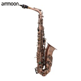 Chinese  Professional Eb E-flat Alto Saxophone Sax Red Bronze Bend Abalone Shell Key Carve Pattern with Case Gloves manufacturers