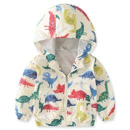 $enCountryForm.capitalKeyWord Australia - Boys Coat Jacket 2018 Cartoon Dinosaur for boy Hooded Cardigan Bomber Jackets Casual Sports White Kids Children Cloth 2 3 4 5 6