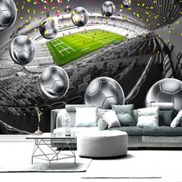 $enCountryForm.capitalKeyWord Australia - Home Improvement Soccer Field 3D Poster Backdrop Decorative Wall Painting Custom Mural Wallpaper For Living Room Bedroom Design