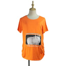 37e412d04 RQ Funny Maternity Pregnancy Shirts T Shirt Maternity Fashion for Pregnant  Women Plus Size Print Tees YF43