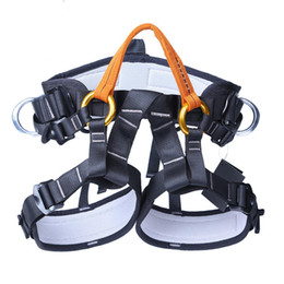 Professional Safety Belt XINDA XD-A9519 Outdoor Rock Climbing Half Body Waist Support Safety Belt Rappelling Protective Gear on Sale