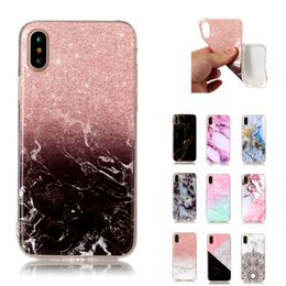 S6 pattern caSe online shopping - For Iphone x Marble Stone Pattern TPU Soft Back Phone Cover Case for Iphone plus plus for Samsung S6