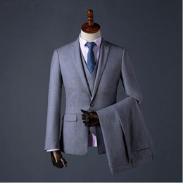 $enCountryForm.capitalKeyWord Canada - Custom Made Mens Suit Formal Business Wear Men Groom Tuxedos Three Pieces Party Clothing Wedding Suits (jacket+vest+pant)