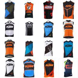$enCountryForm.capitalKeyWord Australia - KTM Team Riding Sleeveless Sweatshirt Vest Hot Style 2018 Summer Jersey Men's Bike Clothing Breathable Mountain Bike Wear A42337