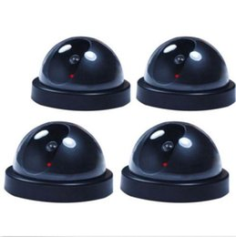 Chinese  4 Fake Dummy Dome Surveillance Security Camera with LED Sensor Light manufacturers