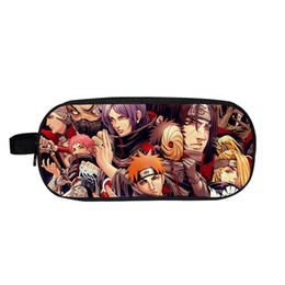 $enCountryForm.capitalKeyWord Australia - Anime Naruto Akatsuki Itachi Prints Pencil Case Kids Pen Pouch Double Layer Multifunction Stationery Storage Bags Cosmetic Bag