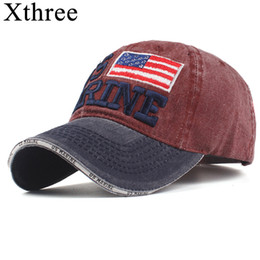 36558974c48 Xthree 100% Washed Cotton Baseball Caps Men Marine Hat Cap Embroidery  Casquette Dad Hat for Women Gorras snapback