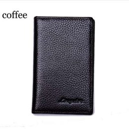 Wholesale MRF17 Slim Leather ID Credit Card Holder Bifold Front Pocket Wallet with RFID Blocking Business card holder genuine leather