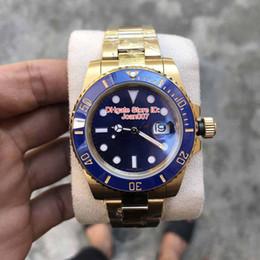 mens eta movement watches 2019 - Luxury Watch Top Quality Watch BP Factory Maker 18K Gold Blue Ceramics Bezel ETA 2836 Movement Mechanical Automatic 1166