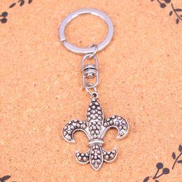 Fleur lis ring men online shopping - New Fashion Keychain mm fleur de lis mardi gras Pendants DIY Men Jewelry Car Key Chain Ring Holder Souvenir For Gift