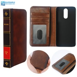 vintage leather book covers UK - Flip Leather cell Phone Case for Xiaomi redmi note 4x Cover Wallet Retro Bible Vintage Book Business Pouch