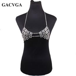 b6e62c836b1e1 GACVGA 2018 Summer Sexy Metal Halter Camisole Crop Top Women Diamond Bra  Vest Club Party Tank Tops