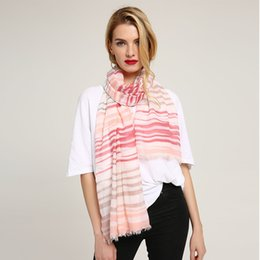 Scarfs Cotton Australia - Long Cotton Shawl Hijab Scarf Women Scarves Head Echarpes Foulards Femme Large Pashmina Wraps For Ladies Line Pattern Print