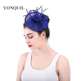 2d968181 Hat fascinator pink purple yellow online shopping - High quality Sinamay Fascinator  Hat for bridal Wedding