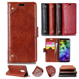 cards slots NZ - Luxury Retro Wallet Top Leather Business Phone Case For Alcatel 7 5V 1 1C 5009A 5 5086A A7 U5 Plus Alcatel 1X 3V 3X 3C Idol 5 A50 Card Slots