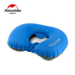 travel cervical neck pillow 2019 - Naturehike Press Inflatable Pillow Travel Air Neck Pillow Comfortable Cervical Pillows Sleep Folding NH18B010-T cheap tr