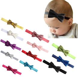 $enCountryForm.capitalKeyWord NZ - 12 color Fashion New Children Shinning Bow Tie Headband Kids Girl Baby Hair Band Hair Accessories High Quality Free Shipping