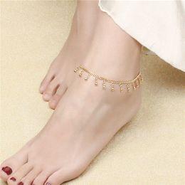 $enCountryForm.capitalKeyWord NZ - MiLaTu Cute Beads Anklets Bracelets For Women Gold Plated Foot Bracelets Foot Jewelry Bijoux Pieds Hot Sale A005