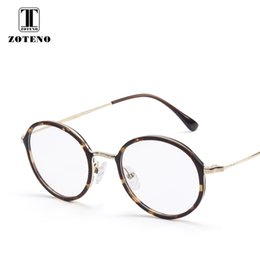 5c07d4cffc TR90 Metal Round Eyewear Frame Computer Myopia Optical Prescription Clear  Lens Eye Glasses Frames For Women High Quality  2163