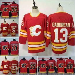 519699884bd Men 13 Johnny Gaudreau Jersey 2018 Calgary Flames 68 Jaromir Jagr 23 Sean  Monahan 5 Mark Giordano Men Women Youth Hockey Jerseys Cheap