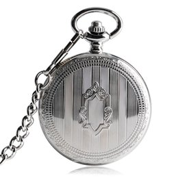 China TOP Sales Silver Steampunk Skeleton Automatic Mechanical Pocket Watch with Chain Erkek Kol Saati Watches Men Unisex Gifts Clock cheap mechanical chain suppliers