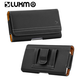 Chinese  Universal Leather Pouch Pocket Fashion Holsters for 5.5 6.3 inch Phone Belt Waist Waistband for iPhone 8 Galaxy S9 Plus LG manufacturers