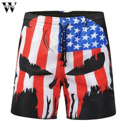 $enCountryForm.capitalKeyWord UK - Womail Summer Fashion New Mens Casual Skull flag Printed Beach Work Casual Men Trouser Shorts Pant short 2018 L30720