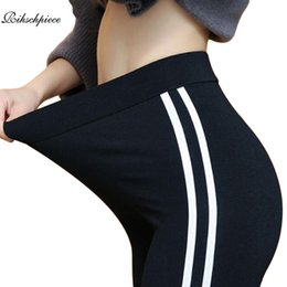 Plus Size Gothic Leggings NZ - Rihschpiece 2018 Plus Size 6XL Leggings Women Side Striped Legging High Waist Christmas Gothic Black Leggins Pants RZF1484