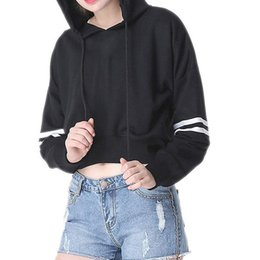 5cff42b27487 Short Sleeve Hoodie Girls NZ - Cool Girls Cropped Hoodie Women Casual  Jumper Fashion Letter Printed