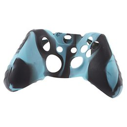Discount silicone skin xbox - Soft Silicone Flexible Camouflage Rubber Skin Case Cover For Xbox One Slim Controller Grip Cover OTH902