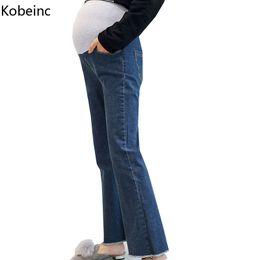 da62d99cc Kobeinc 2017 Nuevos Jeans Para Mujeres Embarazadas Otoño Invierno Pantalones  de Mezclilla de Maternidad Moda Casual Embarazo Ropa M L XL XXL