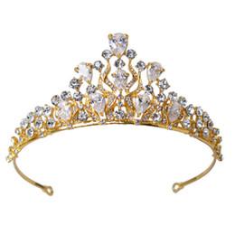 $enCountryForm.capitalKeyWord NZ - Luxury Cubic Zircon Crown Gold Silver Bridal Tiara Wedding Crown Vintage Style Bridal Hair Accessories Party Headpiece
