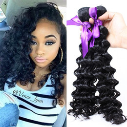 Hair Waves Online Australia - ZhiFan deep wave bundles closure hair bundles hair bundles online wholesale synthetic cheap hairs extensions pieces