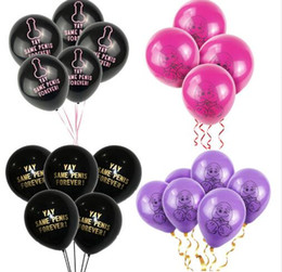 Chinese  Same Penis Forever Balloon Bridal Shower pink Penis Shape Rude Abusive Balloon Hen Bachelorette Party Decoratio manufacturers