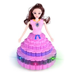 best toys UK - Electric Rotating Princess Dancing Light Doll for Girls Toy Kids Xmas Birthday Best Gift Q0477