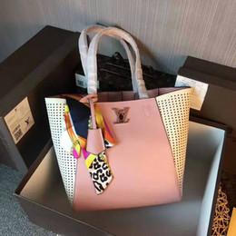 Cotton Viscose Scarves Australia - 2019 M42292 NEW Scarf Real Calfskin pink FASHION Shoulder Bags SHOPPING BAG Hobo HANDBAGS TOP HANDLES BOSTON CROSS BODY MESSENGER SHOULDER